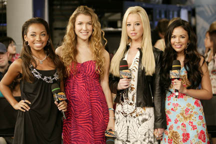 The cast of the 2007 film Bratz, at MuchMusic for a MuchOnDemand episode 26th July, 2007