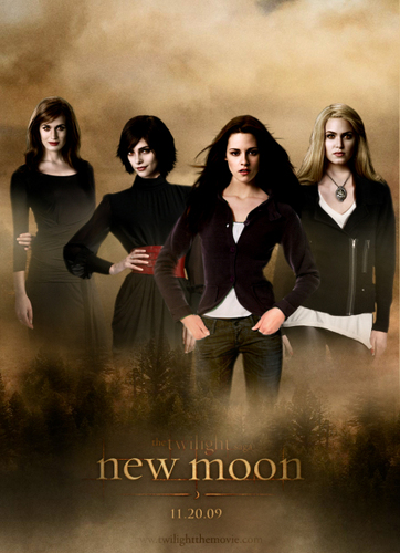 Twilight Series wallpaper possibly with a sign and a portrait entitled The women of the cullens