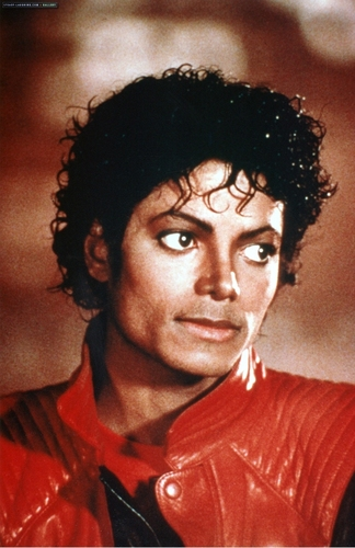 "Michael Jackson achtergrond possibly with a portrait entitled Videoshoots / ""Thriller"" Set"