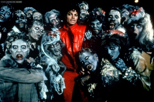 "Michael Jackson Hintergrund called Videoshoots / ""Thriller"" Set"