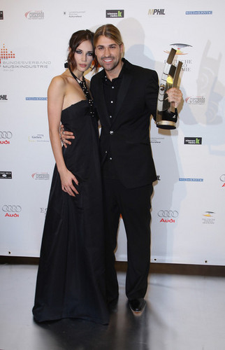 Violinist David Garrett amd his partner Tatjana Gellert