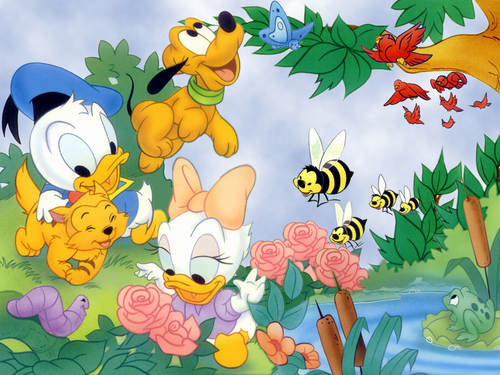 Classic Disney wallpaper called Summer Time