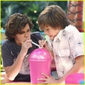 jake and dylan blow up some bubbles - jake-t-austin photo
