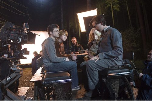 Daniel Radcliffe wallpaper entitled on the set order of phoenix