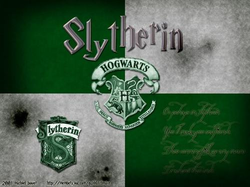 Harry Potter wolpeyper possibly containing a sign called *slytherin*