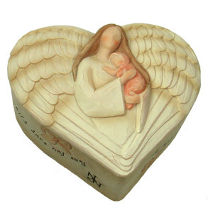 Angel cœur, coeur Trinket Box