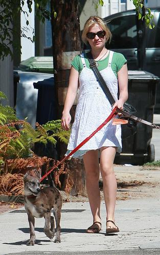 Anna walking her 개