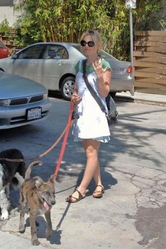 Anna walking her Cani