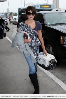 Ashley Leaving LAX - August 10