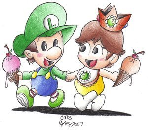 Baby Daisy and Luigi