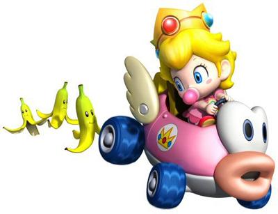 Baby peach, pichi Mario Kart