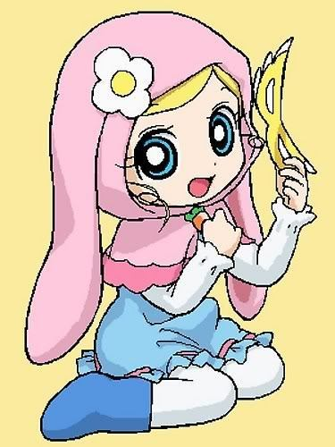 Bubbles (PowerPuff Girls) kertas dinding with Anime entitled Bubbls