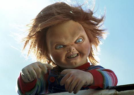 Horror films achtergrond possibly with a portrait titled CHUCKY