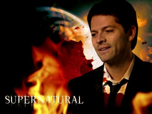 Castiel wallpaper possibly containing a fire called Castiel