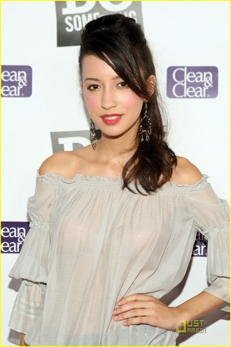 Christian Serratos 壁紙 probably containing a portrait entitled Christian at power of the youth party