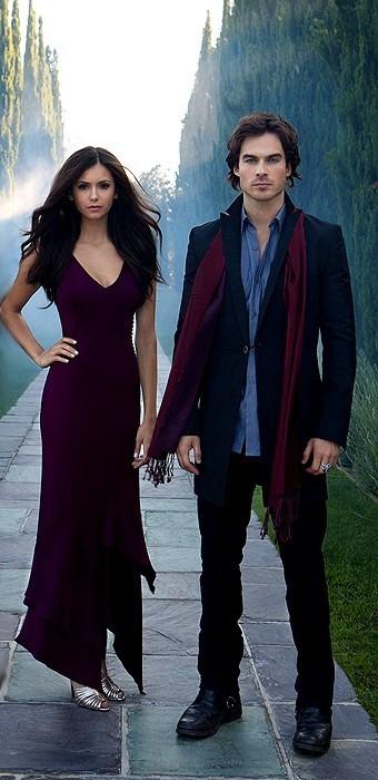 Damon and Elena - the-vampire-diaries-tv-show photo