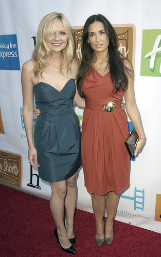 Demi Moore and Kirsten Dunst at the HollyShorts Film Festival