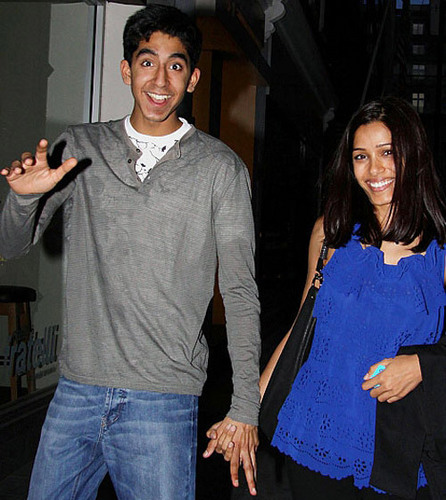 Dev Patel and Freida پنٹو