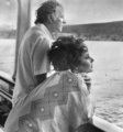 Elizabeth Taylor and Richard 伯顿 on Yacht