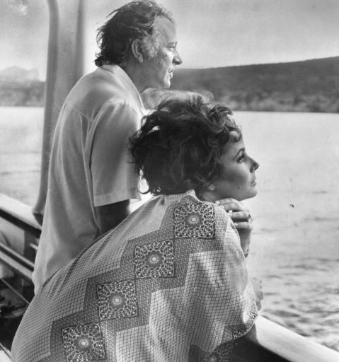 Elizabeth Taylor and Richard burton on Yacht