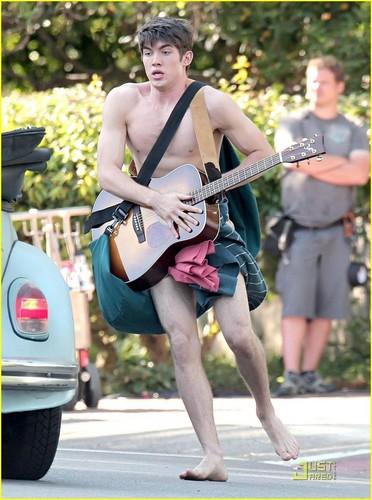 Emma Roberts on Set