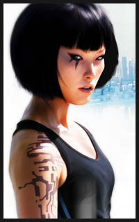 Mirror's Edge wallpaper probably containing a portrait called Faith Portrait