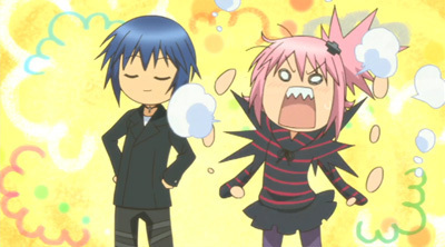 Ikuto and Amu - shugo-chara Screencap
