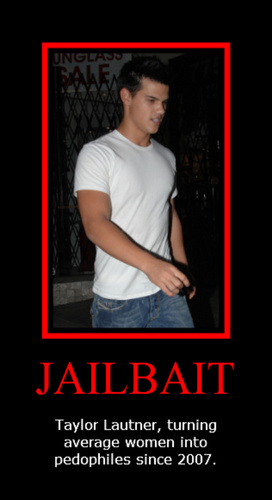 Taylor Lautner wallpaper containing anime entitled Jailbait - Taylor Lautner