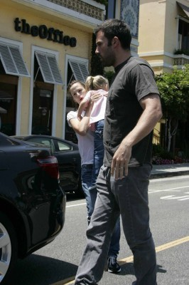 Jen and Ben leaving Louise's Restaurant - August 1 2009