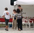 Jophia hug on set <3 - sophia-bush-and-james-lafferty photo