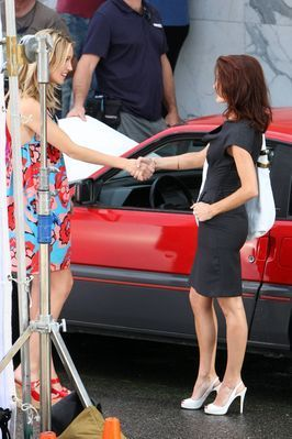 """Katie Cassidy on the """"Melrose Place"""" set - August 10, 2009"""