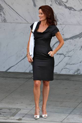 "Laura Leighton on the ""Melrose Place"" set - August 10, 2009"