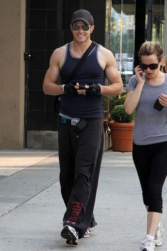 Kellan Lutz and Elizabeth Reaser in Vancouver