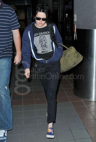 Kristen leaving LAX