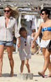 Lily in St Tropez with Kate Moss and her daughter