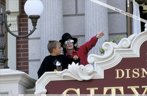 Michael in Disneyland