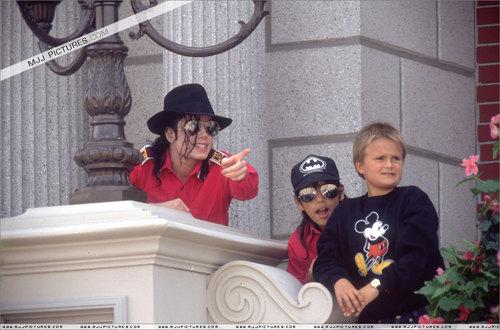 Michael in Disneyland
