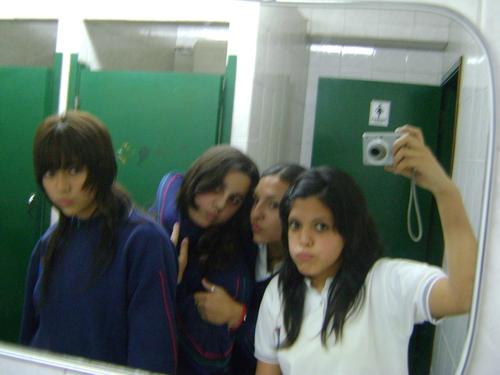 My BFF's n' me in the school bathroom xD