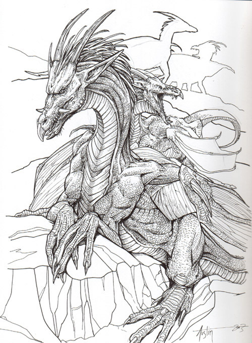 Gallery For gt Mythical Creatures Dragons Drawings