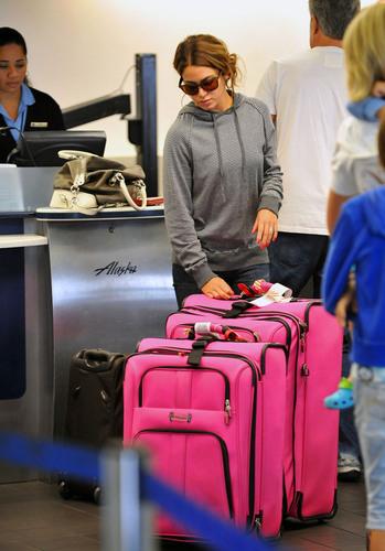 Nikki Reed leaving LAX