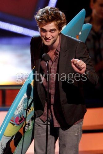 Rob inside teen choice awards- and accepting awards