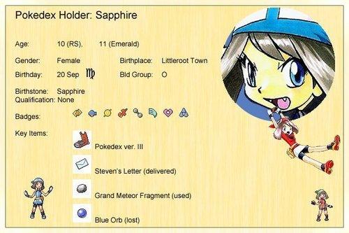 Sapphire 프로필