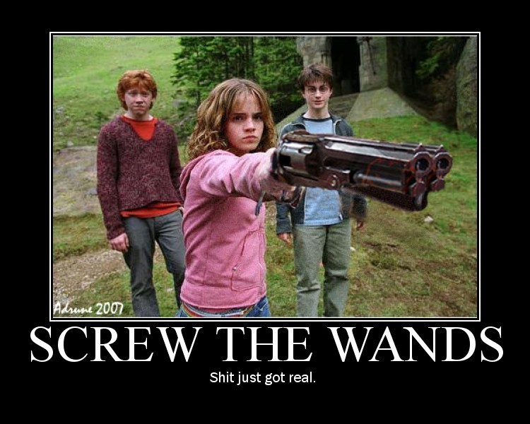 Harry potter screw the wands