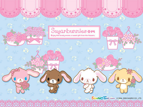 Sugarbunnies achtergrond entitled Sugarbunny