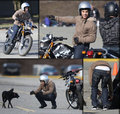 Taylor Lautner Riding a Motorcyle