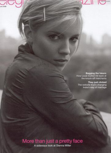 Sienna Miller پیپر وال containing a portrait entitled The Daily Telegraph (UK) - 7th June 2008