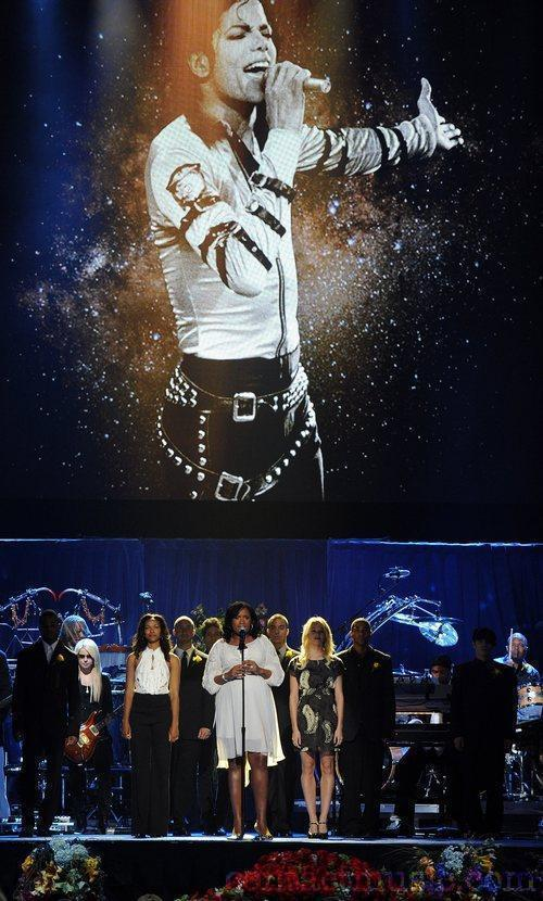 The memorial service for the King of Pop, Michael Jackson, at the Staples Center Los Angeles