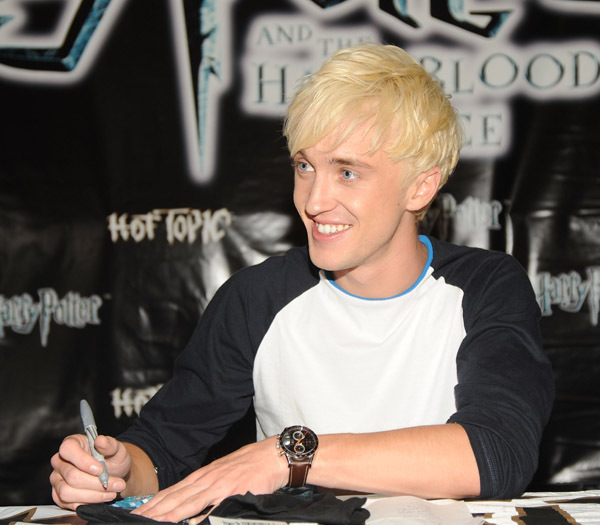 tom felton shirt off. Tom Felton at quot;Hot