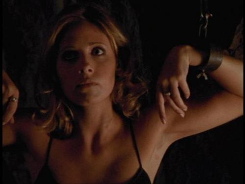Buffy the Vampire Slayer karatasi la kupamba ukuta containing attractiveness, a portrait, and skin called buffy season 2