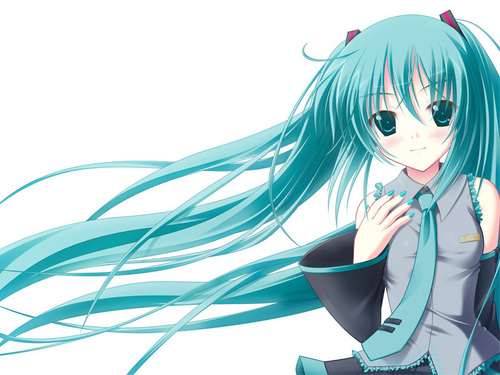 Vocaloids wallpaper entitled miku hatsune